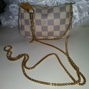 GOLD~REPLACEMENT STRAP for POCHETTES & MINI BAGS